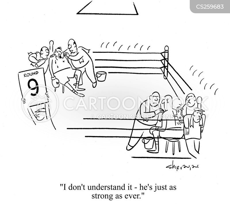 boxing fan cartoon