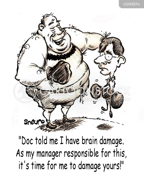 sporting injuries cartoon