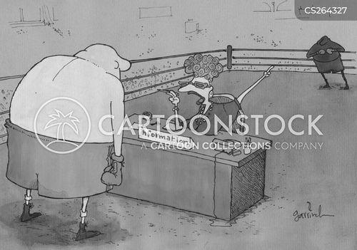 info desk cartoon