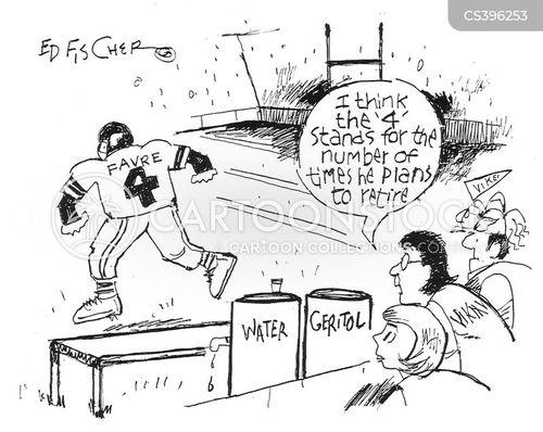 pro football cartoon