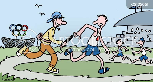 relay race cartoon