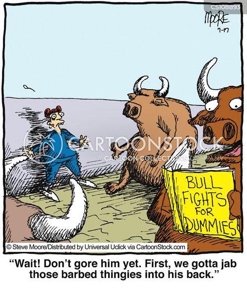 bullfights cartoon