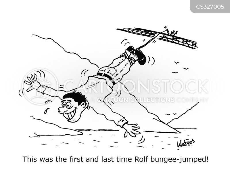 bungee jumpers cartoon