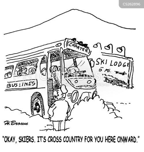 ski trip cartoon