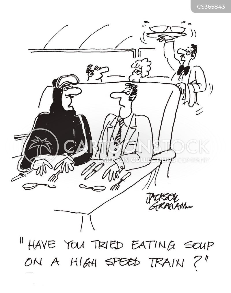 soup eating cartoon