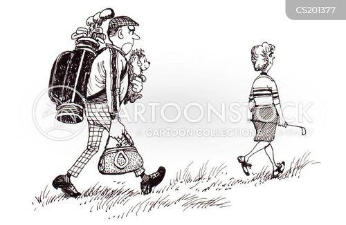 golf bag cartoon