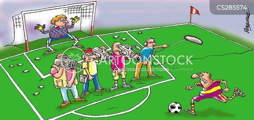 soccer match cartoon
