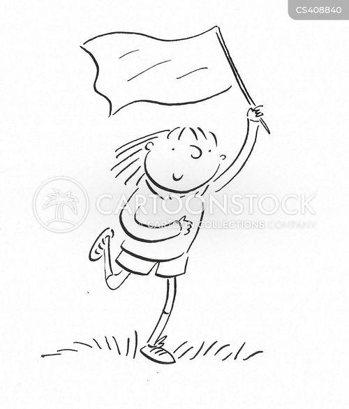 capture the flag cartoon
