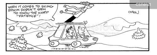car surfing cartoon