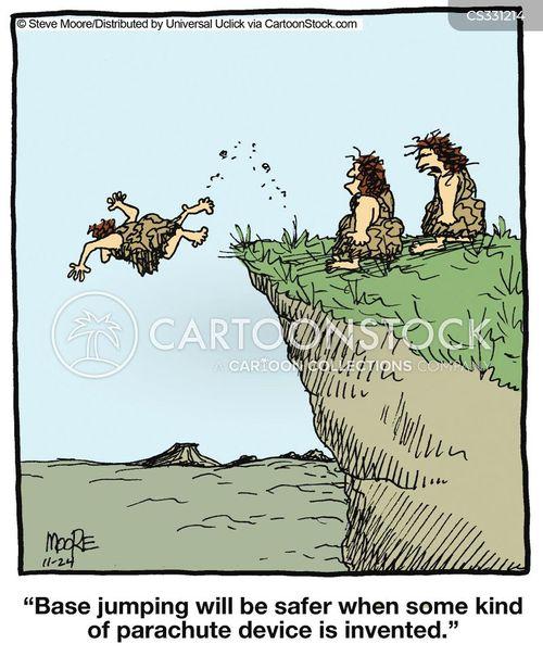 base jumping cartoon