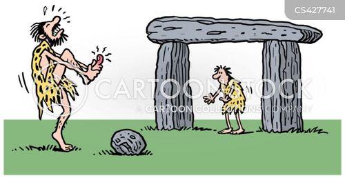 goalposts cartoon