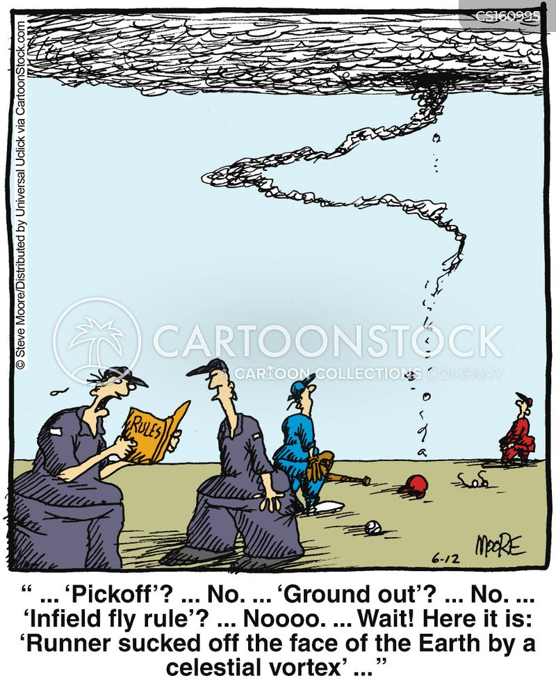 baseball rules cartoon