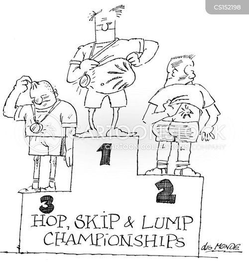 triple jumps cartoon