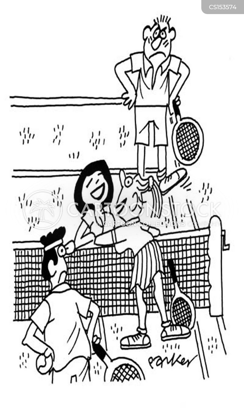tennis net cartoon