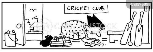 cricket pads cartoon