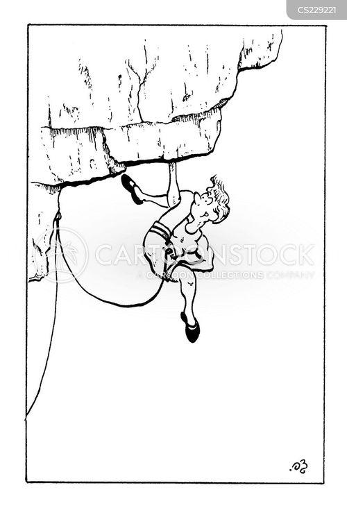 free climbing cartoon