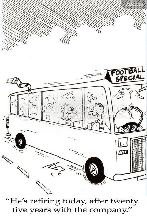 coach drivers cartoon