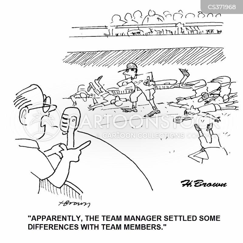 team managers cartoon