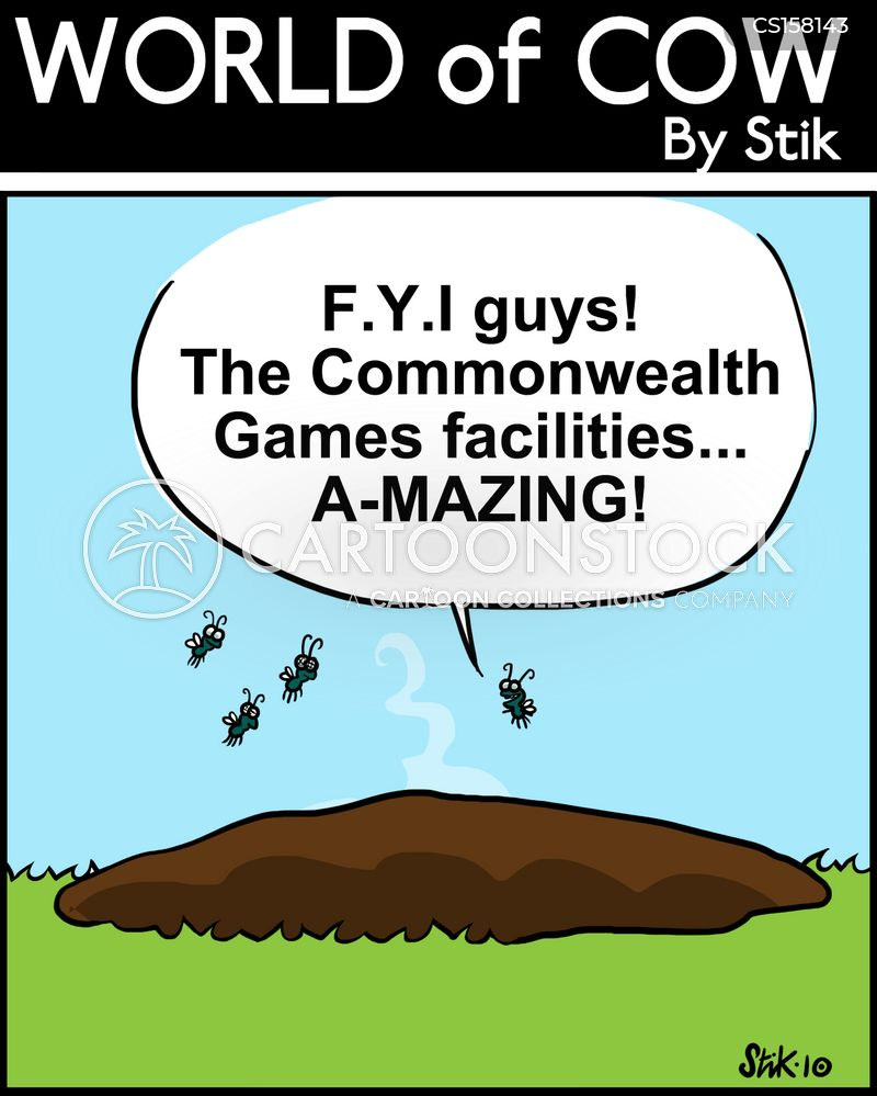 athletes village cartoon