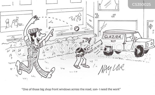 drumming up business cartoon