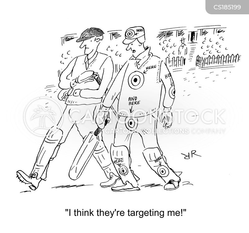 cricket game cartoon