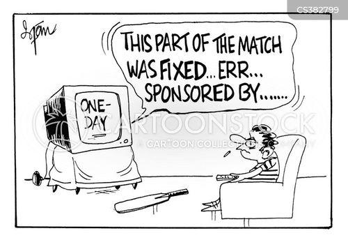 test match cartoon