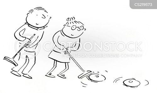 curlers cartoon