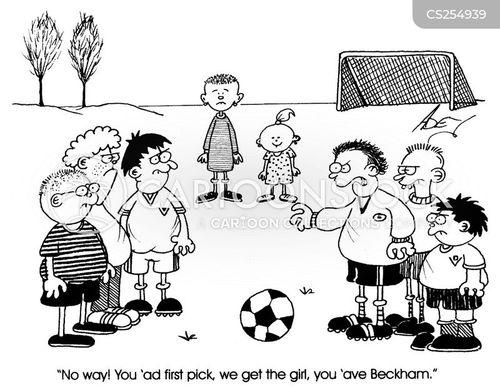 david beckham cartoon