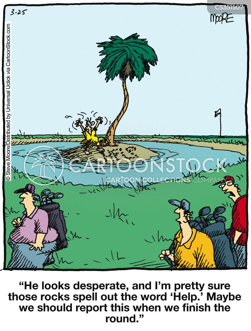 water hazard cartoon