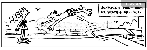 ice skates cartoon