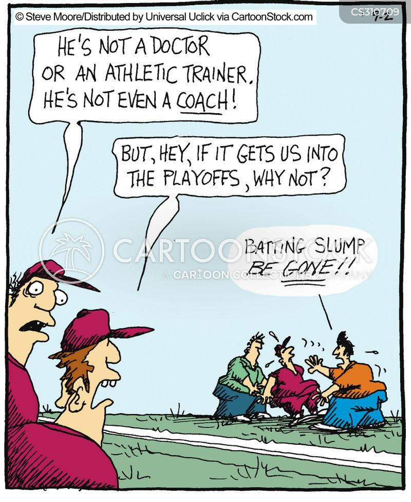 athletic trainers cartoon