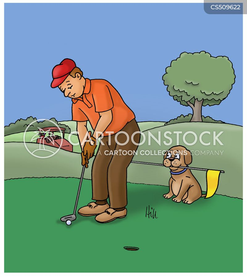 golf caddies cartoon