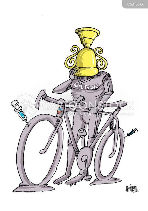 lance armstrong cartoon
