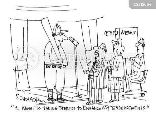 sports news cartoon