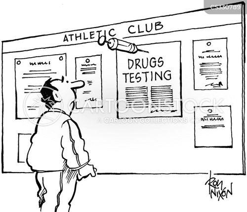 drugs testing cartoon