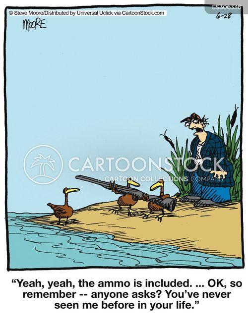 gun dealer cartoon