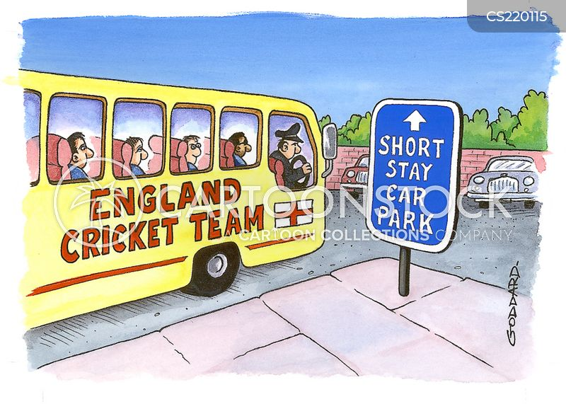 cricket team cartoon