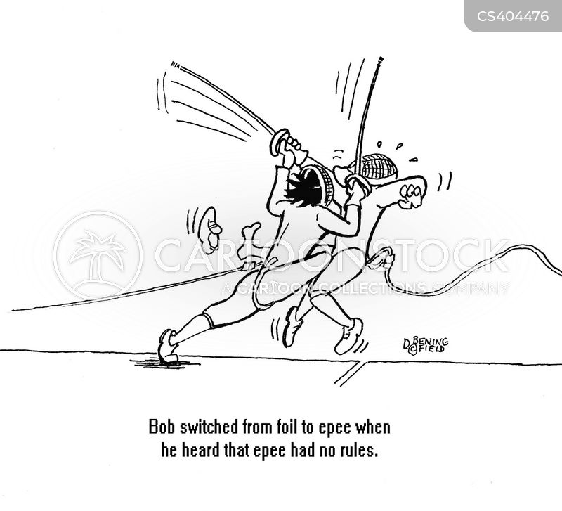 fencing matches cartoon
