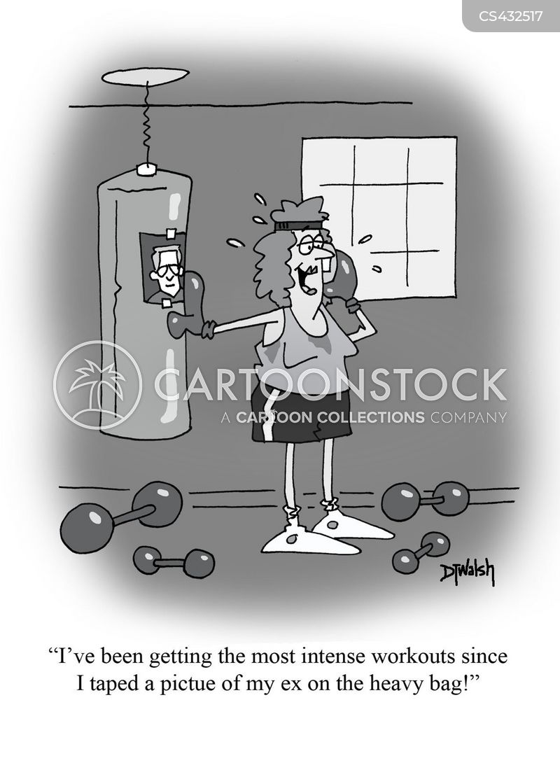 heavy bag cartoon