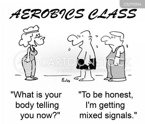 aerobics class cartoon