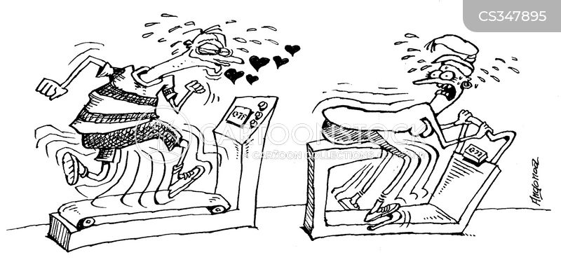exercise bicycle cartoon