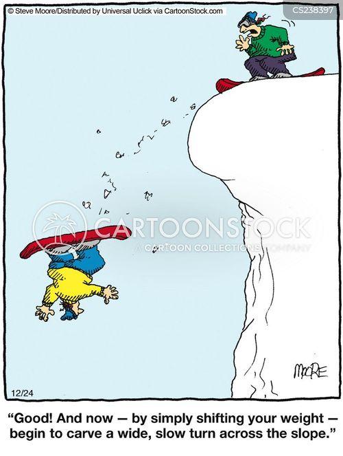 snowboarders cartoon