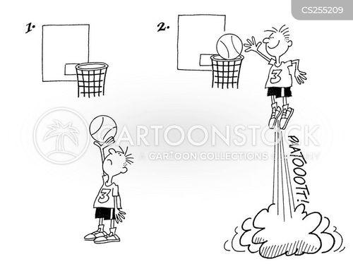 shooting hoops cartoon