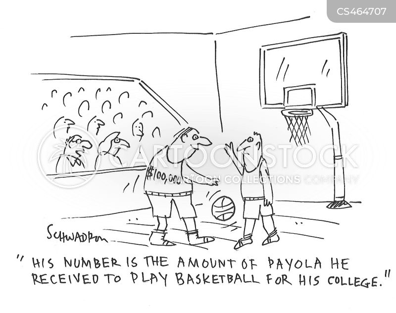 basketball scandals cartoon