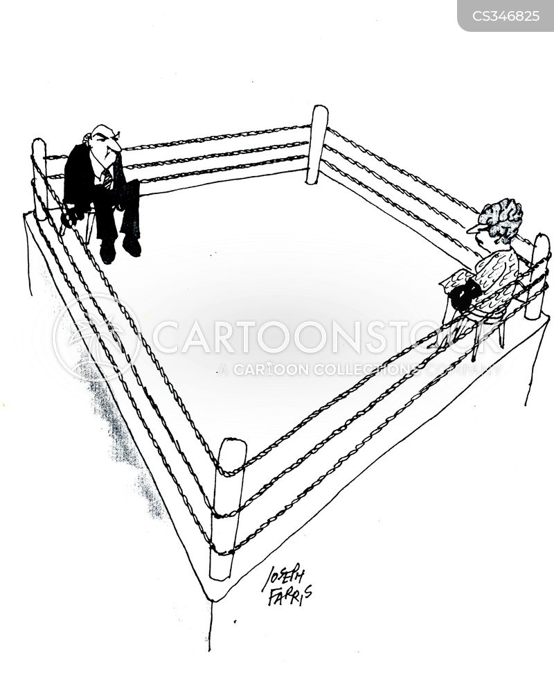 Boxing fights cartoons and comics funny pictures from cartoonstock man and women in a boxing ring ccuart Images