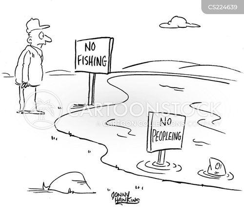 fishing rules cartoon