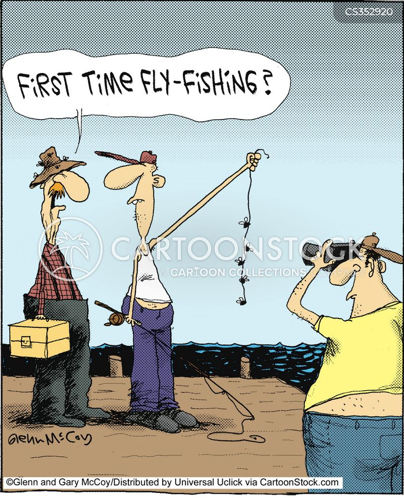 First times cartoons and comics funny pictures from for Fly fishing for dummies