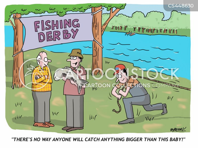 fishing competition cartoon