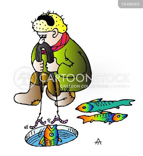 ice fishers cartoon