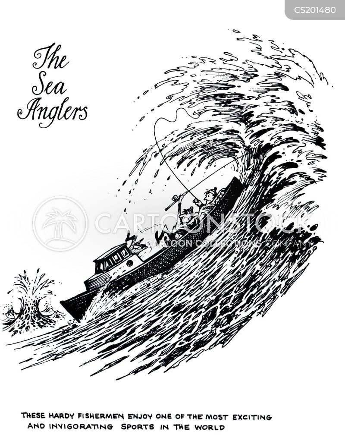 sea fisherman cartoon